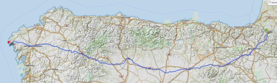 Camino Francés Map
