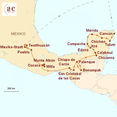 Mexiko Map